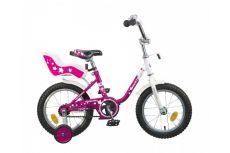 """Велосипед NOVATRACK 12"""" MAPLE, розовый, сталь, полная защита цепи, тормоз нож, крылья, сидение для к"""