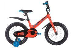 """Детский велосипед  NOVATRACK 16"""", Mагний-Алюминиевая рама, BLAST, оранжевый, тормоз ножной.,пластик.крылья"""