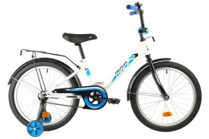 """Велосипед NOVATRACK 20"""" FOREST белый, сталь, тормоз нож, крылья, багажник"""