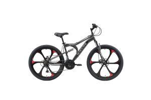 Велосипед Black One Totem FS 26 D FW серый/черный/серый 2020-2021