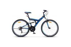 Велосипед Stels Focus 26' V 18 sp V030 Темно-синий/Синий (LU086305)