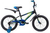 """Детский велосипед  NOVATRACK 18"""", LUMEN, алюм.,черный, тормоз нож, короткие крылья, нет багажника"""