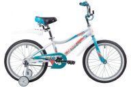 """Детский велосипед  NOVATRACK 18"""", NOVARA, алюм., белый, тормоз нож, короткие крылья, нет багажника"""
