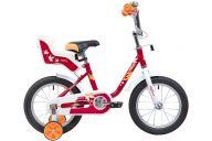 """Детский велосипед  NOVATRACK 14"""" MAPLE, красный, полная защита цепи, тормоз нож, крылья цвет, сидение для кук"""