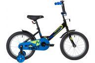 """Детский велосипед  NOVATRACK 16"""" TWIST черный, тормоз нож, крылья корот, полная защ.цепи"""