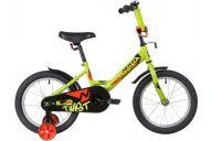 """Детский велосипед  NOVATRACK 16"""" TWIST зеленый, тормоз нож, крылья корот, полная защ.цепи"""