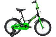 """Детский велосипед  NOVATRACK 16"""" STRIKE черный-зелёный, тормоз нож, крылья корот, полная защита цепи"""