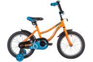 """Детский велосипед  NOVATRACK 16"""" NEPTUNE оранжевый, тормоз нож, крылья корот, полная защ.цепи"""