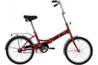 """Складной велосипед  NOVATRACK 20"""" складной, TG20, красный, тормоз нож, AL обода, багажник"""