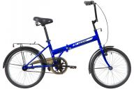 """Складной велосипед  NOVATRACK 20"""" складной, TG30, синий, тормоз 1 руч. и нож.,двойной обод,"""