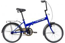 """Велосипед NOVATRACK 20"""" складной, TG30, синий, тормоз 1 руч. и нож.,двойной обод,"""