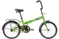 """Складной велосипед  NOVATRACK 20"""" складной, TG30, салатовый, тормоз нож,двойной обод,сид.и руль комфор"""