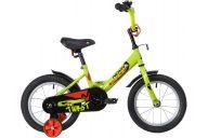 """Детский велосипед  NOVATRACK 14"""" TWIST зеленый, тормоз нож, крылья корот, полная защ.цепи"""