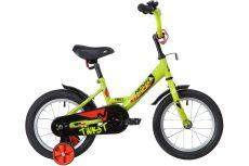 """Велосипед NOVATRACK 14"""" TWIST зеленый, тормоз нож, крылья корот, полная защ.цепи"""