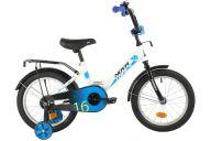 """Детский велосипед  NOVATRACK 16"""" FOREST белый, сталь, тормоз нож, крылья, багажник, полная защ.цепи"""