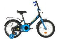 """Детский велосипед  NOVATRACK 16"""" FOREST черный, сталь, тормоз нож, крылья, багажник, полная защ.цепи"""