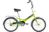 """Складной велосипед  NOVATRACK 20"""" складной, TG20, зеленый, тормоз нож, двойной обод, багажник"""