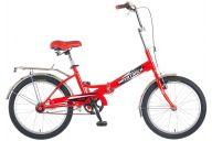 """Складной велосипед  NOVATRACK 20"""" складной, FS30, красный, тормоз 1 руч и нож,AL обода,усилен, б #085482"""