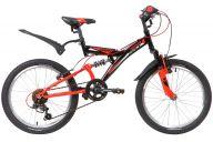 """Подростковый велосипед  NOVATRACK 20"""" DART, черный, сталь, 6 скор., TY21/RS35/SG-6SI, Shimano"""