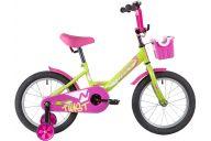 """Детский велосипед  NOVATRACK 16"""" TWIST зеленый, тормоз нож, крылья корот, полная защ.цепи, корзина"""