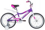 """Детский велосипед  NOVATRACK 18"""" NOVARA алюм., лиловый, тормоз нож, короткие крылья, нет багажника"""