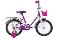 """Детский велосипед  NOVATRACK 16"""" MAPLE, сиреневый, полная защита цепи, тормоз нож.,крылья и багажник хром, пе"""