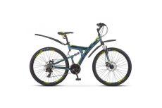 Велосипед Stels Focus 27,5' MD 21 sp V010 Синий/Неоновый-зеленый (LU089832)