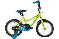 """Детский велосипед  NOVATRACK 16"""" NEPTUNE салатовый, тормоз нож, крылья корот, полная защ.цепи"""