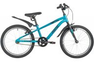 """Подростковый велосипед  NOVATRACK 20"""" PRIME алюм., синий, тормоз V-brake, короткие крылья"""