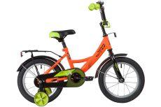 """Велосипед NOVATRACK 14"""" VECTOR оранжевый, тормоз нож, крылья, багажник, полная защ.цепи"""