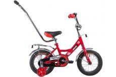 """Велосипед NOVATRACK 12"""", URBAN, красный, полная защита цепи, тормоз нож., крылья и баг хром, упр.руч"""