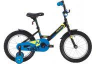 """Детский велосипед  NOVATRACK 12"""" TWIST чёрный, тормоз нож., корот.крылья, полная защита цепи"""