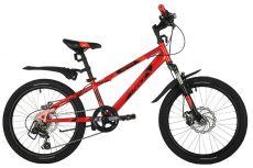 """Велосипед NOVATRACK 20"""" EXTREME красный, сталь, 6 скор., Shimano TY21/Microshift TS38, дисковый тор"""