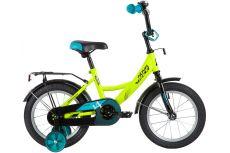 """Велосипед NOVATRACK 14"""" VECTOR салатовый, тормоз нож, крылья, багажник, полная защ.цепи"""