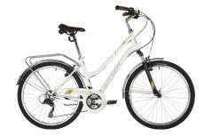 "Велосипед STINGER 26"" VICTORIA белый, сталь, размер 17"", MICROSHIFT"