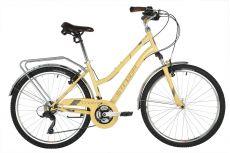 "Велосипед STINGER 26"" VICTORIA бежевый, сталь, размер 19"", MICROSHIFT"