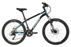 """Велосипед STINGER 24"""" CAIMAN D черный, сталь, размер 14"""", MICROSHIFT"""