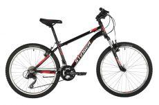 """Велосипед STINGER 24"""" CAIMAN черный, сталь, размер 14"""", MICROSHIFT"""