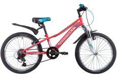 "Велосипед NOVATRACK 20"", VALIANT, коралловый, сталь, 6-скор, TY21/TS38/SG-6SI, V-brake"