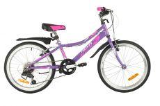 "Велосипед NOVATRACK 20"" ALICE фиолетовый, стальная рама, 6 скор., Shimano TY21/Microshift TS38, V-"