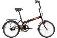 """Складной велосипед  NOVATRACK 20"""" складной, TG 30, черный, передний тормоз V-Brake задний ножной, багажник, кр"""