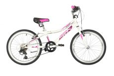 "Велосипед NOVATRACK 20"" ALICE белый, стальная рама, 6 скор., Shimano TY21/Microshift TS38, V- brake"