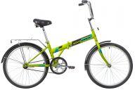 """Складной велосипед  NOVATRACK 24"""" складной,зеленый, тормоз V-Brake задний ножной, багажник, крылья"""