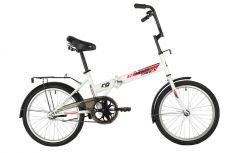 """Велосипед NOVATRACK 20"""" складной, TG30, белый, тормоз нож, двойной обод,сид.и руль комфор"""