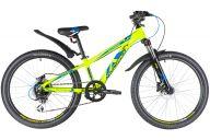 """Подростковый велосипед  NOVATRACK 24"""" EXTREME, алюм., рама 11"""", зеленый, 8 скор., SHIMANO ALTUS, диск/гидр тормоз"""