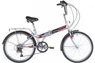 """Складной велосипед  NOVATRACK 24"""" складной, серый, TG, 6скор. Shimano TY-21, тормоз V-brake.,сидение комфорт,"""