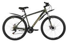 """Велосипед STINGER 27.5"""" CAIMAN D зеленый, сталь, размер 18"""""""