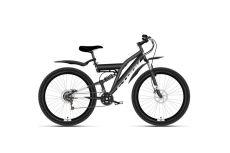 Велосипед Stark'21 Jumper 27.1 FS D чёрный/серебристый