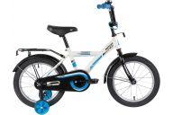 """Детский велосипед  NOVATRACK 16"""" FOREST белый, тормоз нож, крылья, багажник, полная защ.цепи"""