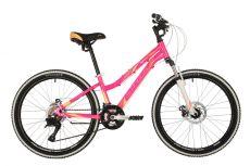 "Велосипед STINGER 24"" LAGUNA D розовый, алюминий, размер 14"", MICROSHIFT"